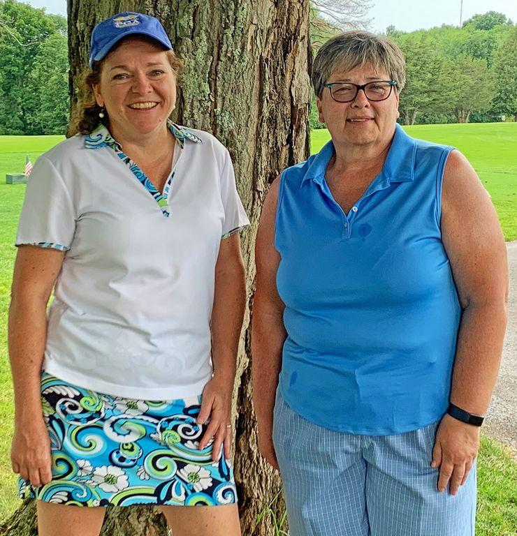 Vicky Botjer (left) and Kathy Haser (right) emerged victorious in the Ladies Division of the Honesdale Golf Club's Memorial Tournament.