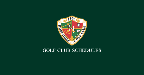 2019 Club Schedules